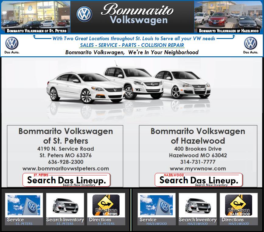 Bommarito St Peters >> Volkswagen Bommarito Auto Sales - Service - Parts